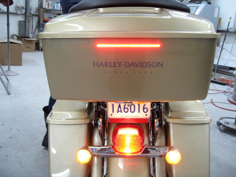 Flush mount brake light lets face it stopped at a traffic light can be very dangerous whether your on a bike or in a car this 30 led strip aloadofball Choice Image